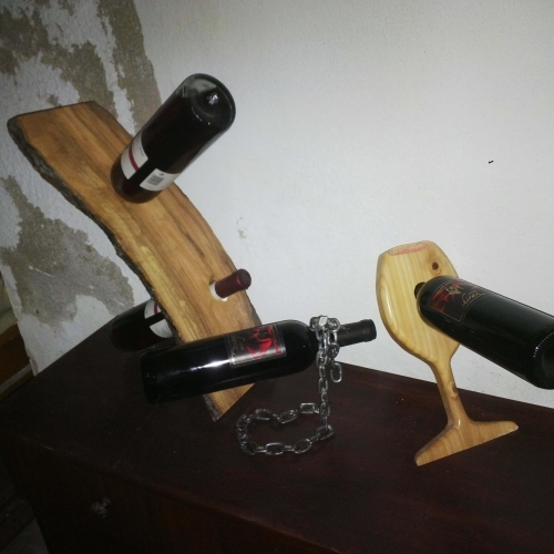 wine holders wood-metal